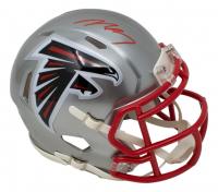 Michael Vick Signed Falcons Flash Alternate Speed Mini Helmet (JSA COA) at PristineAuction.com