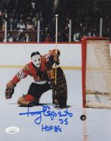 """Tony Esposito Signed Blackhawks 8x10 Photo Inscribed """"HOF 88"""" (JSA COA) at PristineAuction.com"""