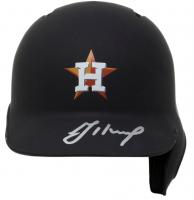 Jose Altuve Signed Astros Matte Black Mini Batting Helmet (JSA COA) at PristineAuction.com