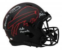 "Jim Kelly, Andre Reed & Thurman Thomas Signed Bills Full-Size Eclipse Alternate Speed Helmet Inscribed ""Bills Dynasty"" (JSA COA) at PristineAuction.com"