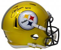 "Joe Greene Signed Steelers Full-Size Flash Alternate Speed Helmet Inscribed ""HOF 87"" (JSA COA) at PristineAuction.com"