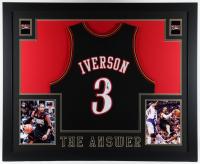 Allen Iverson Signed 35x43 Custom Framed Jersey Display (JSA Hologram) at PristineAuction.com