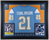 LaDainian Tomlinson Signed 35x43 Custom Framed Jersey (JSA COA) at PristineAuction.com