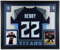 Derrick Henry Signed 35x43 Custom Framed Jersey Display (Beckett Hologram) (See Description) at PristineAuction.com