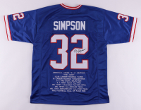 O.J. Simpson Signed Career Highlight Stat Jersey (JSA COA) at PristineAuction.com