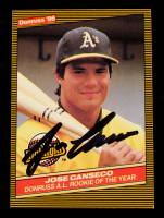 Jose Canseco Signed 1986 Donruss Highlights #55 (Beckett Hologram) at PristineAuction.com