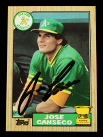 Jose Canseco Signed 1987 Topps #620 (Beckett Hologram) at PristineAuction.com