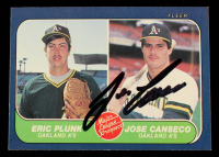 Jose Canseco Signed 1986 Fleer #649 RC (Beckett Hologram) at PristineAuction.com