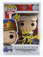 "Jerry ""The King"" Lawler Signed WWE #97 Funko Pop Vinyl Figure Inscribed ""WWE HOF 07"" (JSA COA) at PristineAuction.com"