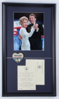 Ronald Reagan 14x24 Custom Framed White House Inagural Ball Invitation Display with Campaign Pin at PristineAuction.com