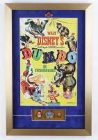 "Walt Disney's ""Dumbo"" 15x23x1 Custom Framed Shadowbox Print Display with 1960 Ceramic Figurines Set Of (3) (See Description) at PristineAuction.com"