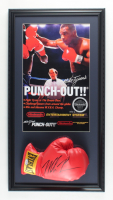Mike Tyson Signed 15x28 Custom Framed Boxing Glove Display (PSA COA) at PristineAuction.com