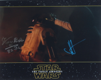 "J.J. Abrams & Kenny Baker Signed ""Star Wars Episode VII: The Force Awakens"" 11x14 Photo Inscribed ""R2-D2"" (ACOA Hologram) at PristineAuction.com"