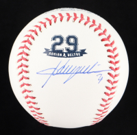 Adrian Beltre Signed OML Commemorative Number Retirement Logo Baseball (JSA COA) at PristineAuction.com