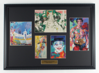 "LeRoy Neiman ""Scenes of Los Angeles"" 19x20 Custom Framed Multi-Print Display with Kareem Abdul-Jabbar, Memorial Coliseum, Marylin Monroe at PristineAuction.com"