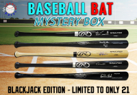 Schwartz Sports Baseball Bat Signed Mystery Box - (Blackjack Edition - Series 1) (Limited to ONLY 21!!)(NO DUPLICATES!!!) at PristineAuction.com
