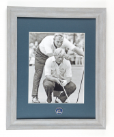 Arnold Palmer & Jack Nicklaus 13x16 Custom Framed Photo Display with Ryder Cup At Oakland Hills Pin at PristineAuction.com