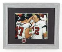 Tom Brady & Rob Gronkowski Buccaneers Super Bowl LV 13x16 Custom Framed Photo Display with Champions Pin at PristineAuction.com