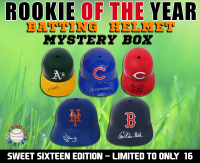 Schwartz Sports - Baseball Rookie of the Year Signed Batting Helmet Mystery Box – (Sweet Sixteen Edition - Series 1) (Limited to ONLY 16!!) (ALL ARE SIGNED BY ROOKIE OF YEAR AWARD WINNERS!!) at PristineAuction.com
