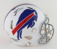Stefon Diggs Signed Bills Full-Size Authentic On-Field Speed Helmet (Beckett COA) at PristineAuction.com