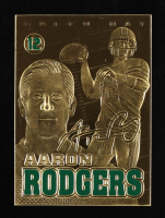 Aaron Rodgers 2008 Merrick Mint Gold Sculpted Sig Series #AR at PristineAuction.com
