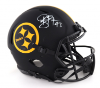 Troy Polamalu Signed Steelers Full-Size Authentic On-Field Eclipse Alternate Speed Helmet (Beckett COA) (See Description) at PristineAuction.com