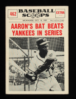 Hank Aaron 1961 Nu-Card Scoops #462 at PristineAuction.com