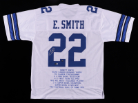 Emmitt Smith Signed Career Highlight Stat Jersey (Beckett COA & Prova Hologram) at PristineAuction.com