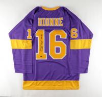 """Marcel Dionne Signed Jersey Inscribed """"HOF 92"""" (Leaf COA) at PristineAuction.com"""