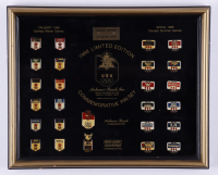 Vintage Anheuser Busch 1988 Olympics LE 12.5x15 Custom Framed Pin Set Display at PristineAuction.com