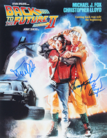 "Michael J. Fox & Christopher Lloyd Signed ""Back to the Future"" 11x14 Photo (ACOA COA) at PristineAuction.com"
