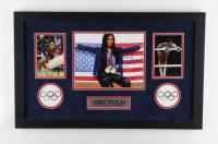 Gabby Douglas Signed Team USA 16x26 Custom Framed Photo Display (PSA COA) at PristineAuction.com