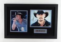 Tim McGraw Signed 16x25 Custom Framed Photo Display (PSA COA) at PristineAuction.com