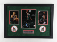 Giannis Antetokounmpo Signed Bucks 18x26 Custom Framed Photo Display (JSA COA) at PristineAuction.com