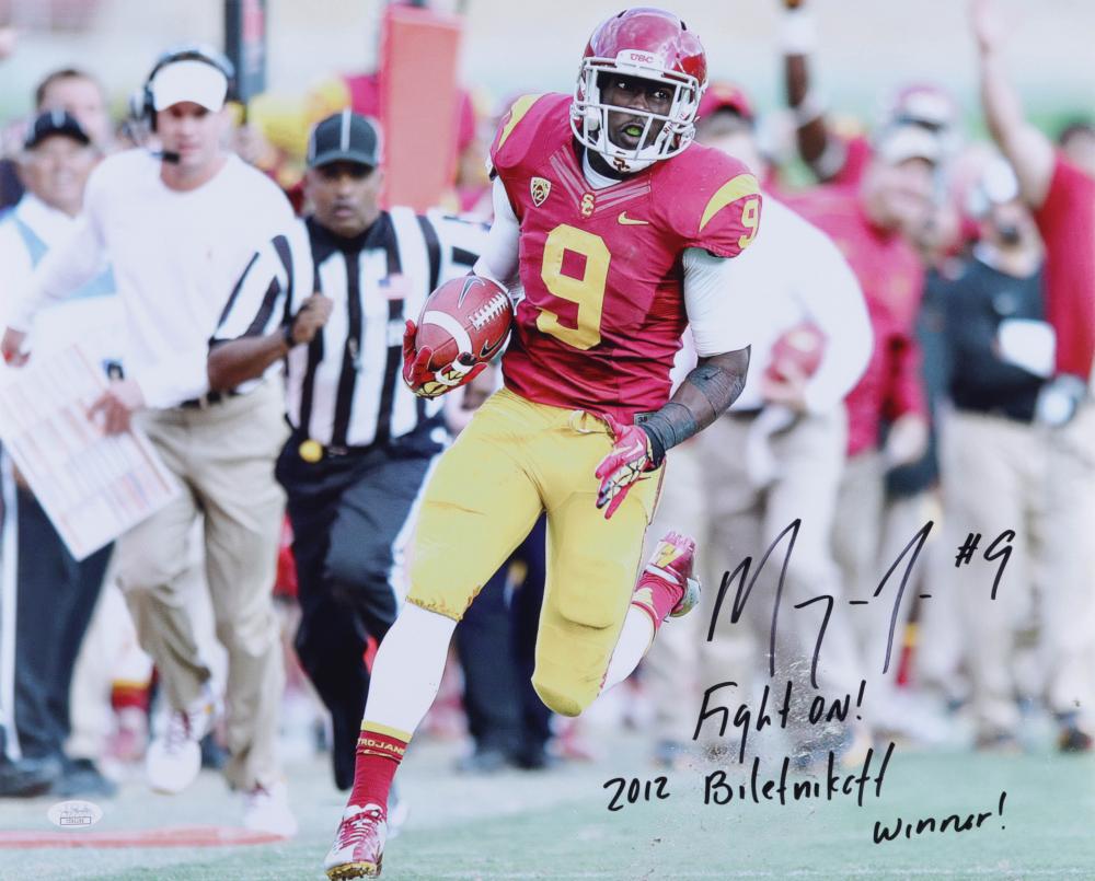 "Marqise Lee Signed USC Trojans 16x20 Photo Inscribed ""Fight On!"" & ""2012 Biletnikoff Winner!"" (JSA COA) at PristineAuction.com"