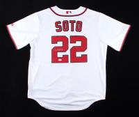 Juan Soto Signed Nationals Majestic Jersey (JSA Hologram) at PristineAuction.com