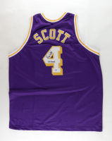 """Byron Scott Signed Jersey Inscribed """"3X Champ"""" (PSA COA) at PristineAuction.com"""