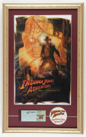 """Disneyland """"Indiana Jones Adventure"""" 15x24 Custom Framed Print Display with Pre-Opening 1995 Decal & Vintage Ticket Book at PristineAuction.com"""