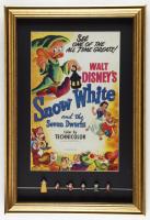 "Walt Disney's ""Snow White & the Seven Dwarfs"" 17x25 Custom Framed Print Display with (6) Original 1960 Snow White Figures at PristineAuction.com"