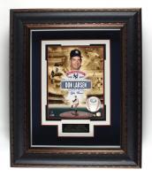 Don Larsen Twice Signed Yankees 25x30 Custom Framed Display (JSA COA) at PristineAuction.com