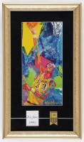 Kareem Abdul-Jabbar Signed 11x19 Cut Display with LeRoy Neiman LA Lakers Art Print & Mini Metal Championship Banner (PSA COA) at PristineAuction.com