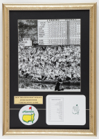 """Jack Nicklaus """"The Masters"""" 15x21 Custom Matted Display with Patch & Official Augusta National Scorecard at PristineAuction.com"""