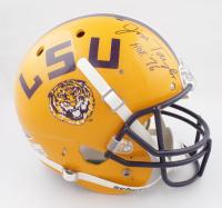 """Jim Taylor Signed LSU Tigers Full-Size Helmet Inscribed """"HOF 76"""" (JSA COA) at PristineAuction.com"""