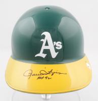 """Rollie Fingers Signed Athletics Logo Full-Size Batting Helmet Inscribed """"HOF 92"""" (JSA COA) at PristineAuction.com"""
