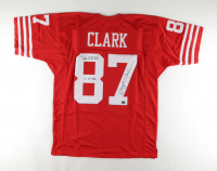 """Dwight Clark Signed Jersey Inscribed """"The Catch"""" & """"1.10.82"""" (Clark Hologram) at PristineAuction.com"""