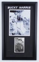Bucky Harris Signed Senators 13.5x22.5 Custom Framed Postcard Display (Beckett LOA) (See Description) at PristineAuction.com