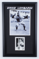 """Ernie Lombardi Signed Reds 13.5x21.5 Custom Framed Postcard Display Inscribed """"Good Luck From"""" (Beckett LOA) at PristineAuction.com"""