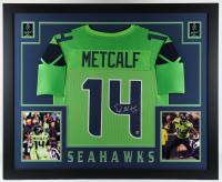 DK Metcalf Signed 35x43 Custom Framed Jersey Display (Beckett Hologram) at PristineAuction.com