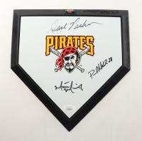 Dave Parker, Paul Maholm & Matt Morris Signed Pirates Logo Mini Home Plate (JSA Hologram) at PristineAuction.com