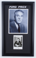 Ford Frick Signed 13.5x22.5 Custom Framed Postcard Display (Beckett LOA) (See Description) at PristineAuction.com
